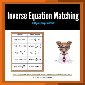 Inverse Equation Matching Activity