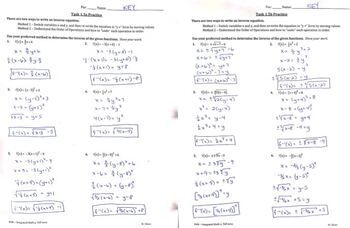 Inverse Equations using Algebra (Quadratic)