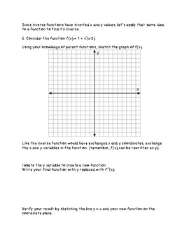 Inverse Function Discovery Activity