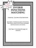 Inverse Function Matching Activity