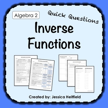 Inverses Activity FREE: Fix Common Mistakes!
