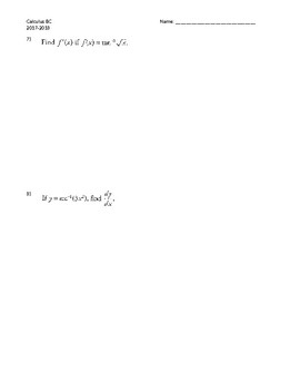 Inverse Functions Derivatives
