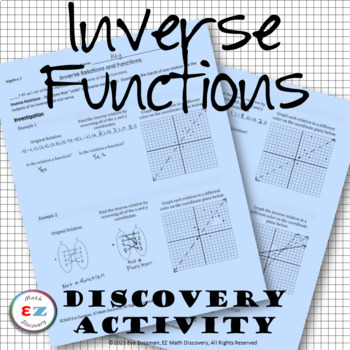 Inverse Functions - Discovery Activity and Notes