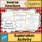 Inverse Functions Exploration Activity