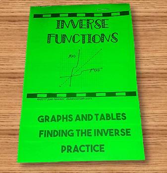 Inverse Functions Flip Book plus HW