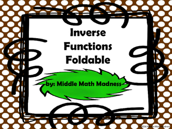 Inverse Functions Foldable