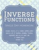Inverse Functions - Homework