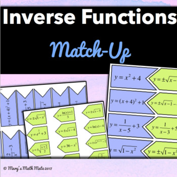 Inverse Functions: Match-Up (Algebra 2 / PreCalculus)