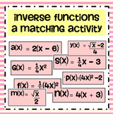 Inverse Functions Matching Activity
