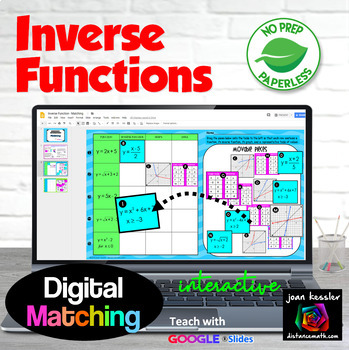 Inverse Functions Matching with Google™ Slides