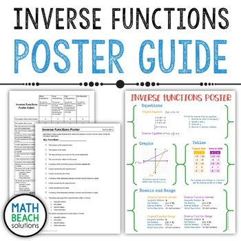 Inverse Functions Poster Activity Guide