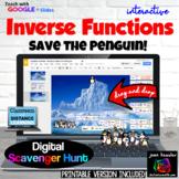 Inverse Functions Digital Scavenger Hunt with GOOGLE Slides™