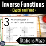 Inverse Functions Activity | Digital and Print