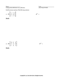 Inverse Matrices