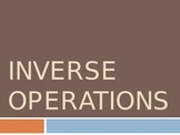 Inverse Operation PowerPoint