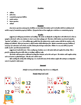 Inverse Operations Activity Center (Addition and Subtraction)Common Core