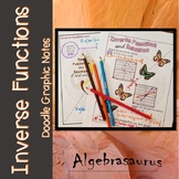 Inverse Functions Doodle Notes or Graphic Organizer