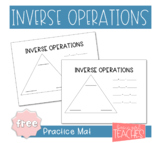 Fact Family Inverse Operations Practice Page