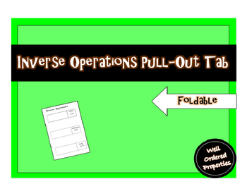 Inverse Operations Pull-Out Tab Foldable
