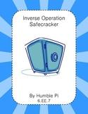 Inverse Operations Safecracker- 6.EE.7