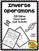 Inverse Operations for One Step Equations TEKS 6.10A