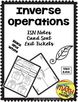 Inverse Operation Teaching Resources | Teachers Pay Teachers