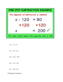 Inverse Opperations (Subtraction)