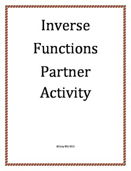 Inverse Relations Partner Activity