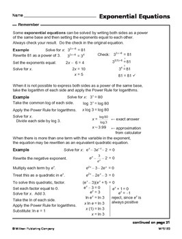 Inverse Relationship between Exponents and Logarithms (CCSS HSF-BF.B.5)