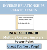Inverse Relationships -  Related Facts - Fact Families - V