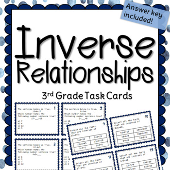 Inverse Relationships Task Cards