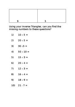 Inverse Triangles Challenge Sheet