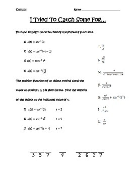 Inverse Trig Derivatives
