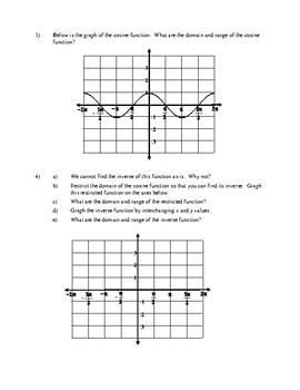 Inverse Trig Discovery Worksheet