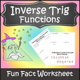 Inverse Trigonometric Functions Activity {Trigonometry Activity}