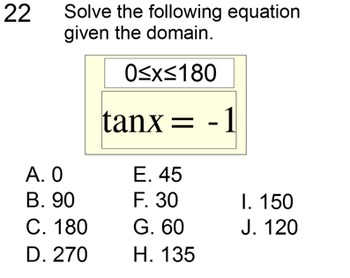 Inverse Trig Functions and Solving Trig Equations on a Limited Domain for PDF