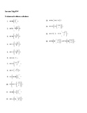 Inverse Trig worksheet