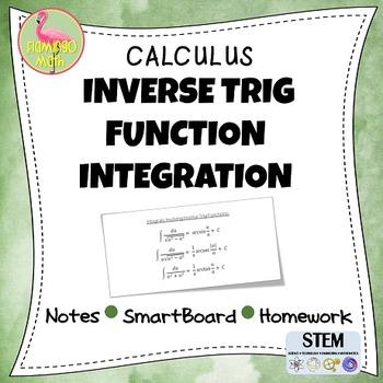 inverse trig functions integration homework