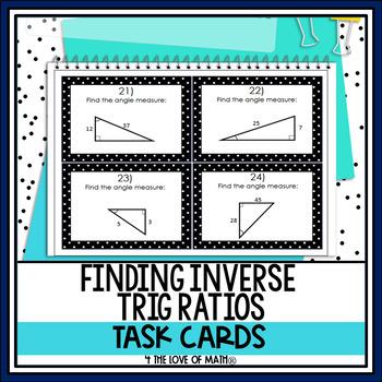 Inverse Trigonometric Ratios: 24 Task Card