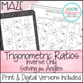 Inverse Trigonometric Ratios (Sine, Cosine & Tangent) Maze - Solving for Angles