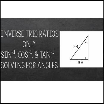 Inverse Trigonometric Ratios (Sine, Cosine & Tangent) Maze - Solving for Angles