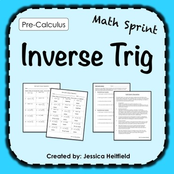 Inverse function activity teaching resources teachers pay teachers inverse trig activity math sprints fandeluxe Gallery