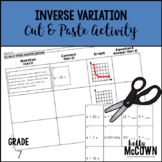 Inverse Variation Cut & Paste Activity