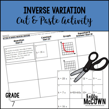 Inverse Variation Cut & Paste Activity