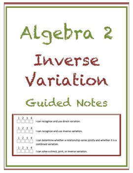 Inverse Variation Guided Notes (Editable)