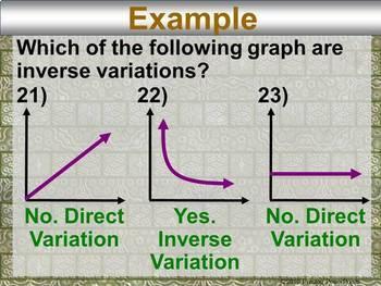 Inverse Variation in a PowerPoint Presentation