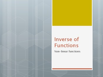 Inverse of Non-Liner Functions