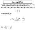 Inverse of a 2x2 Matrix INB