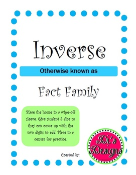 Inverse/Fact Family House Worksheet