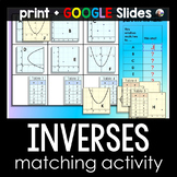 Inverse Functions Matching Activity - print and digital